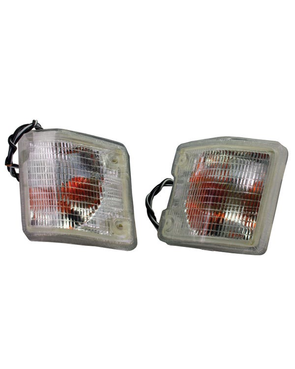 Front Clear Turn Signals Supplied as a  Pair