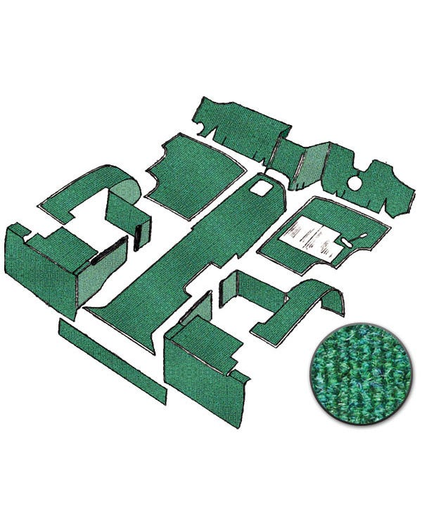 Carpet Set for Right Hand Drive Green gas
