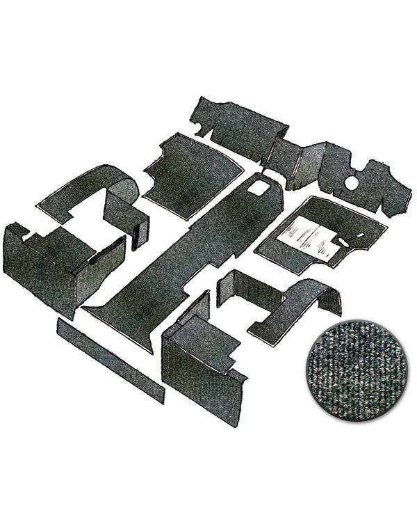 Cab Carpet Set in Charcoal for Right Hand Drive Diesel