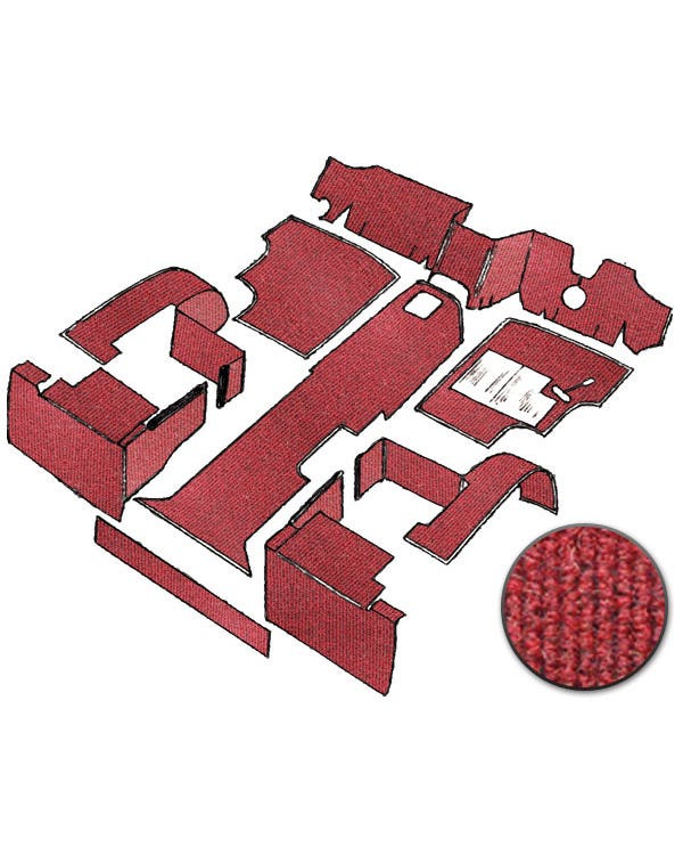 Teppichsatz für Rechtslenker, Rot, Diesel