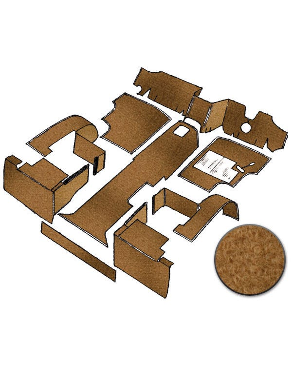 Carpet Set for Right Hand Drive Biscuit gas