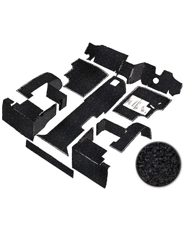 Carpet Set for Right Hand Drive Black Petrol