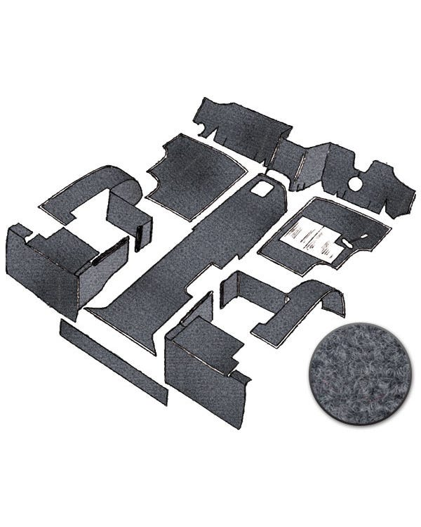 Cab Carpet Set in Grey for Right Hand Drive Petrol