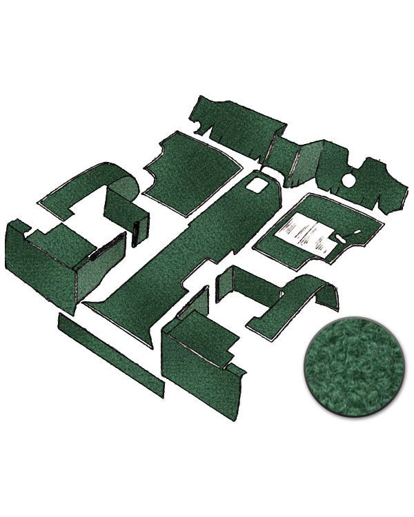 Carpet Set for Right Hand Drive Green Diesel