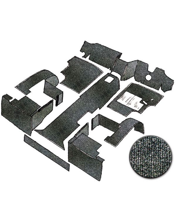 Carpet Set for Right Hand Drive Charcoal Air Cooled