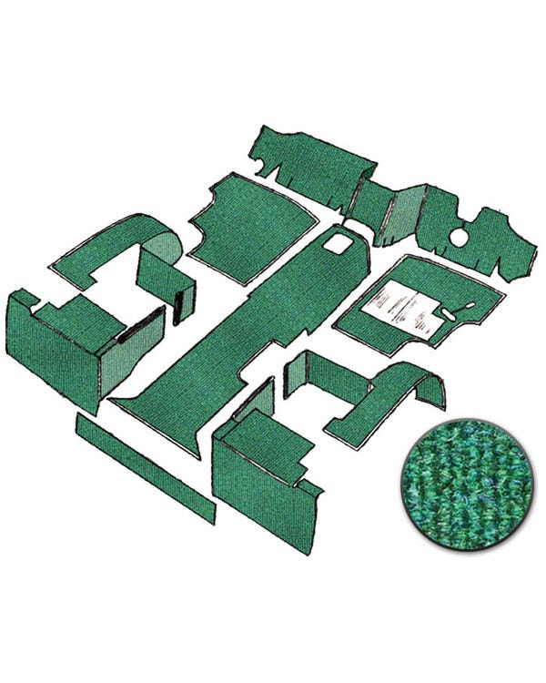 Carpet Set for Right Hand Drive Green Air Cooled
