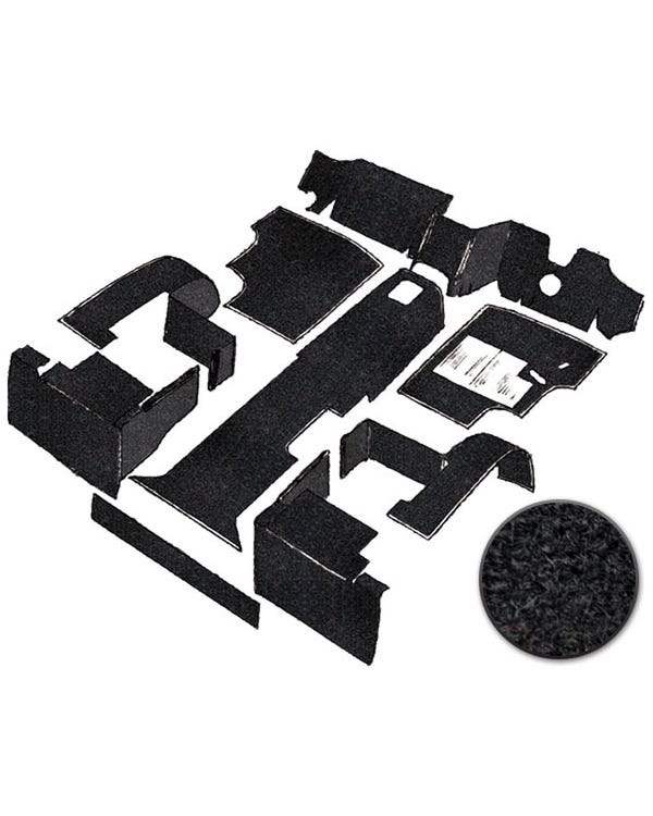Carpet Set for Right Hand Drive Black gas Air Cooled