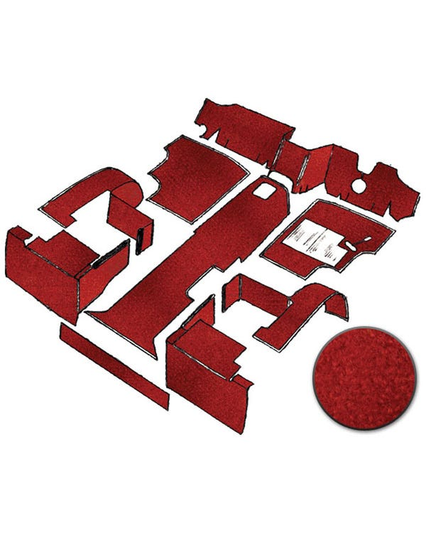 Carpet Set for Right Hand Drive Red gas Air Cooled