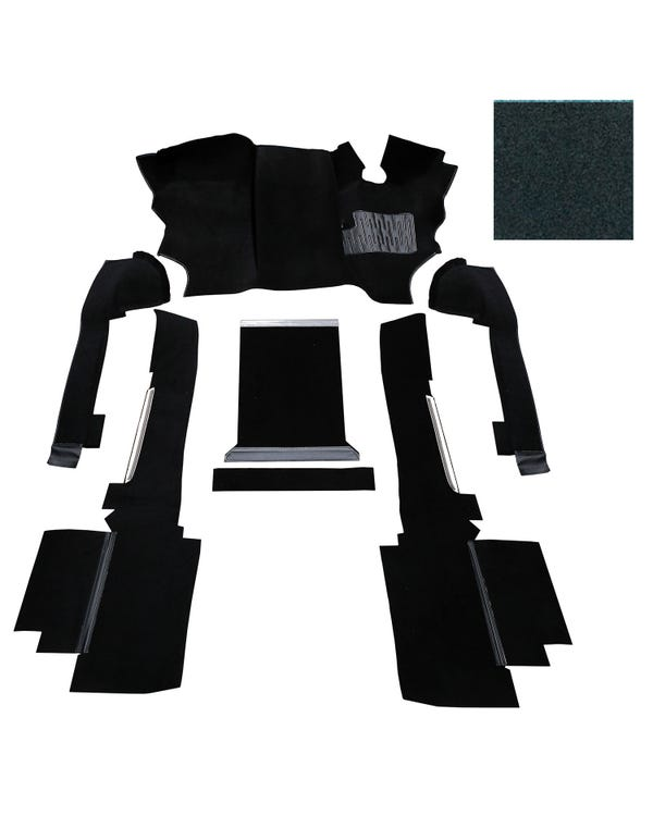 OE Spec Carpet Set in Black Nylon for Right Hand Drive gas or Diesel