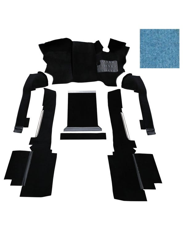 OE Spec Carpet Set in Blue Nylon for Right Hand Drive gas or Diesel