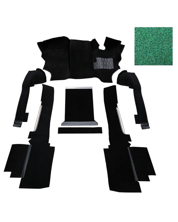 OE Spec Carpet Set in Green Nylon for Right Hand Drive gas or Diesel