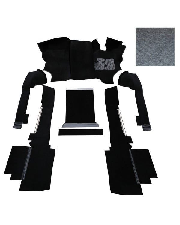 OE Spec Carpet Set in Grey Nylon for Right Hand Drive gas or Diesel