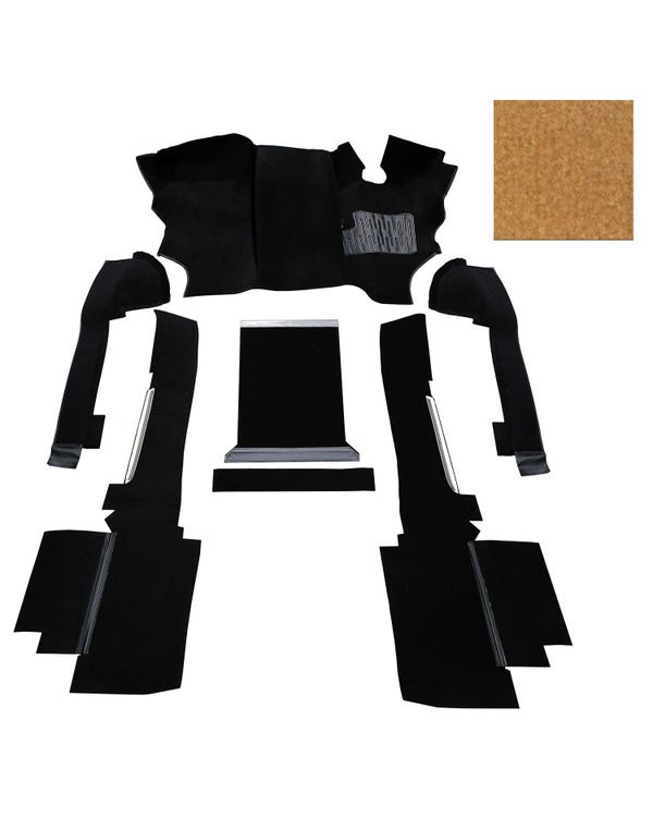 OE Spec Carpet Set in Biscuit Nylon for Right Hand Drive Turbo Diesel