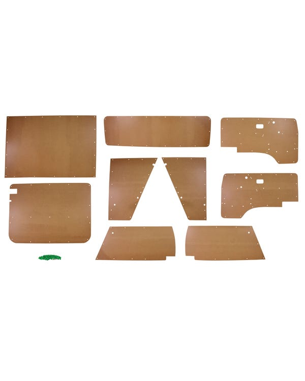 9 Piece Interior Bare Wood Panel  Kit to fit Right Hand Drive only
