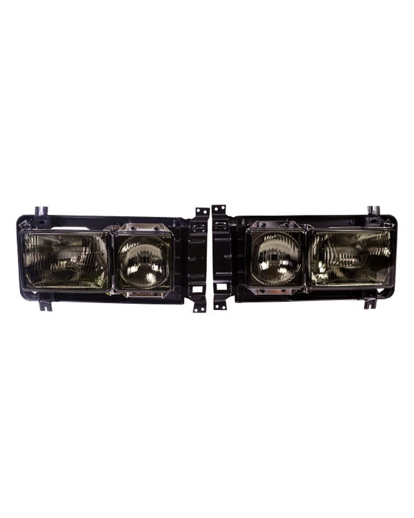 Square Headlight Kit Right Hand Drive Smoked