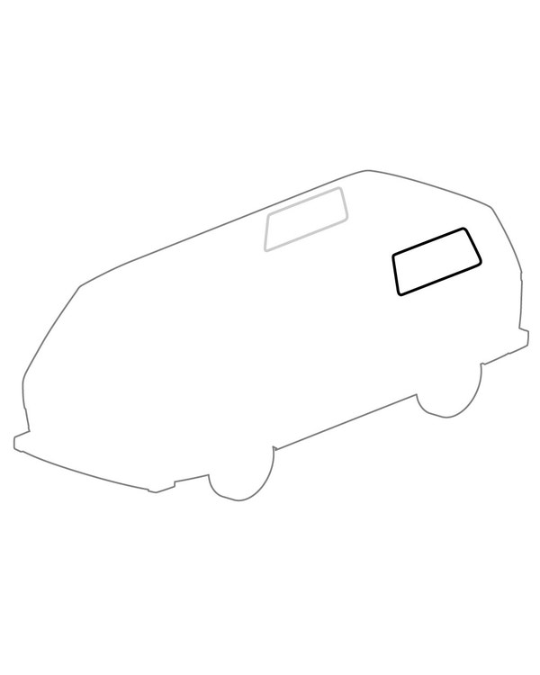 Rear Side Window Seal without Trim Recess