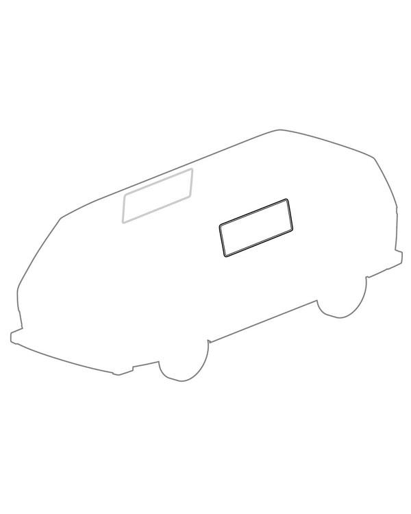 Sliding Door Centre Side Window Seal for Trim