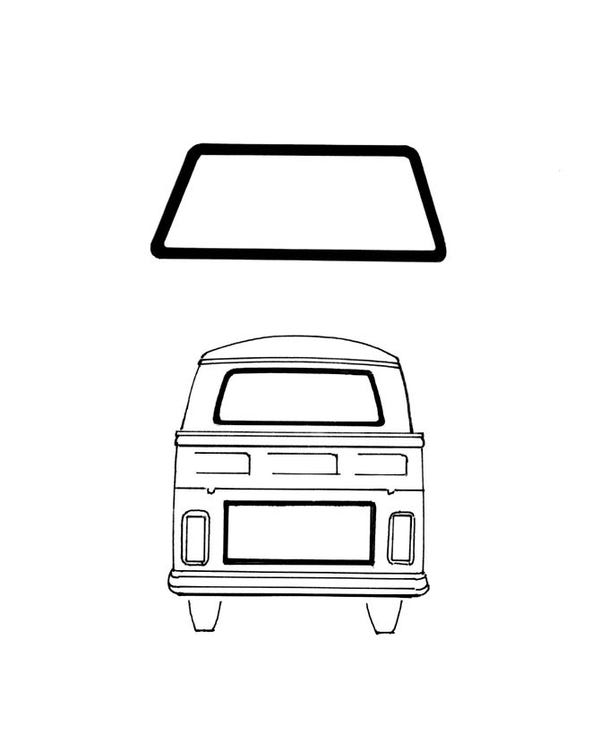 Rear Window Seal Deluxe for Single or Double Cab Pick-Up