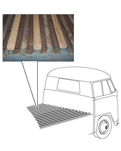 Kit láminas de madera de roble zona carga Pick-up