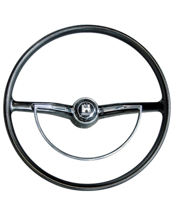 SSP Steering Wheel with Horn Push and D-Ring. Black