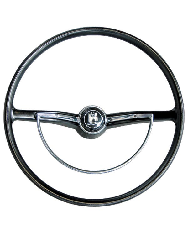 Steering Wheel with Horn Push and D-Ring. Black