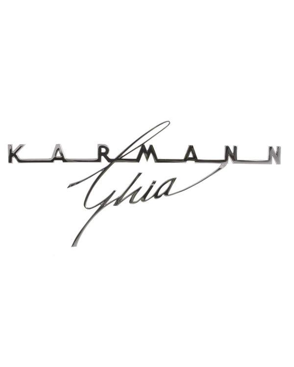 Rear Badge - Karmann Ghia Script