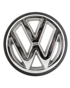 Chrome VW Grille Badge with Black Edging