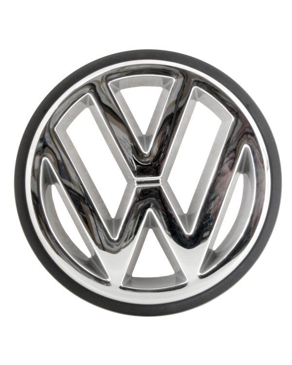 Emblema frontal VW cromado con borde negro