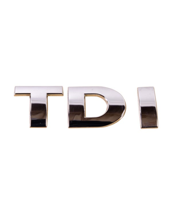 Emblem für die Heckklappe, TDI, chrom