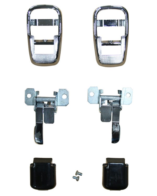 Interior Locking Door Handle Complete Set with Chrome Surround