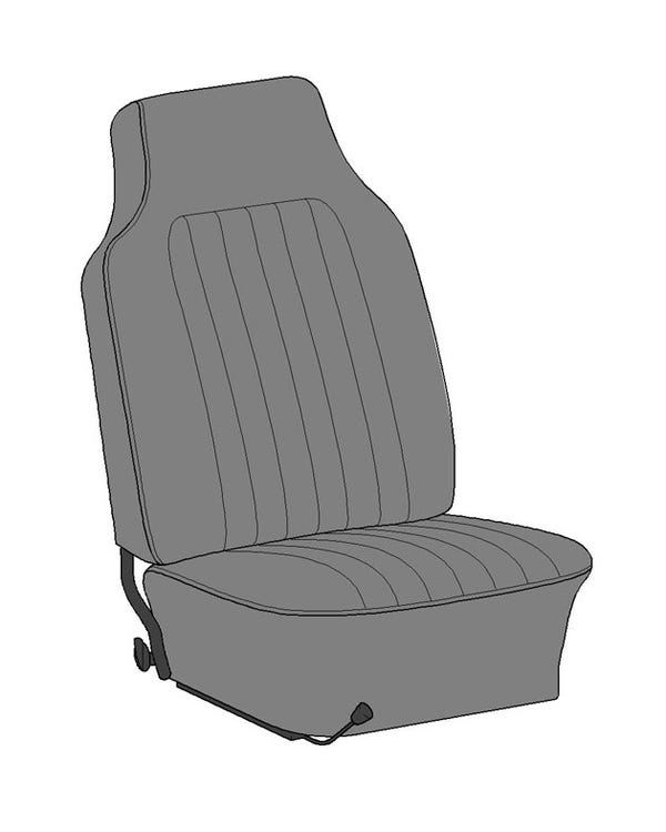 Complete Seat Cover Set for USA Coupe Model in Single color Basket Weave