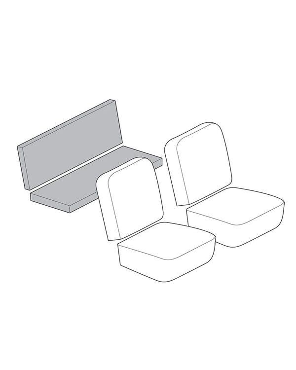 Einfarbiger Rücksitzbezugsatz für Cabriolet, mit Korbmuster