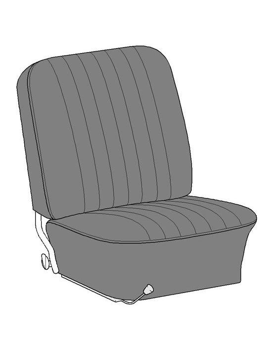 Complete Seat Cover Set for Cabriolet in Single Color Basket Weave