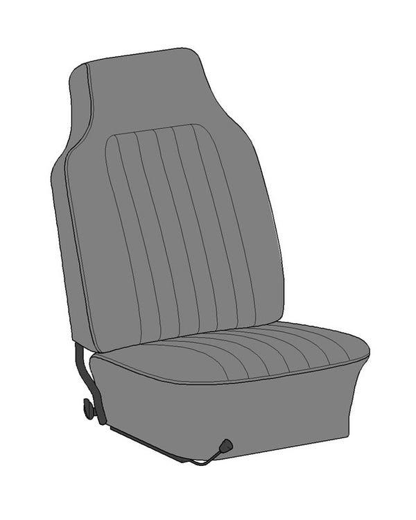Vollständiger, einfarbiger Sitzbezugsatz für Cabriolet in US-Ausführung, mit Korbmuster