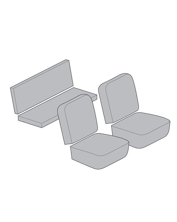 Vollständiger Sitzbezugsatz für Cabriolet in glattem Vinyl, in bis zu 3 Farben erhältlich
