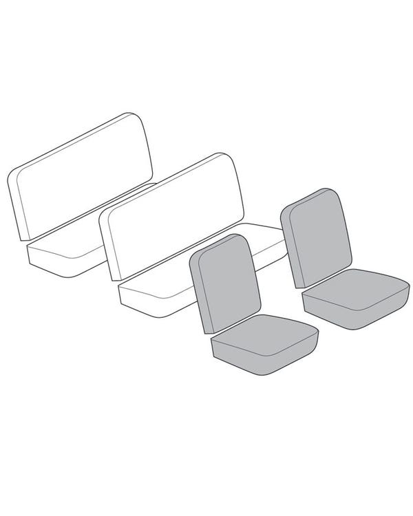 Einfarbiger Vordersitzbezugsatz, für Walk-through-Modell, mit vertikalen Rillen, mit Korbmuster
