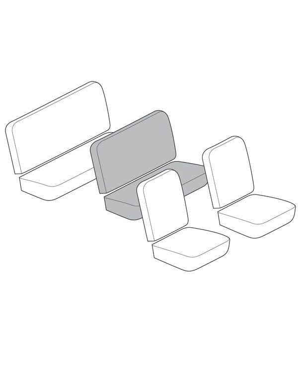 Einfarbiger Mittelbank-Sitzbezugsatz, mit horizontalen Rillen, für 3/4-Sitz mit Korbmuster