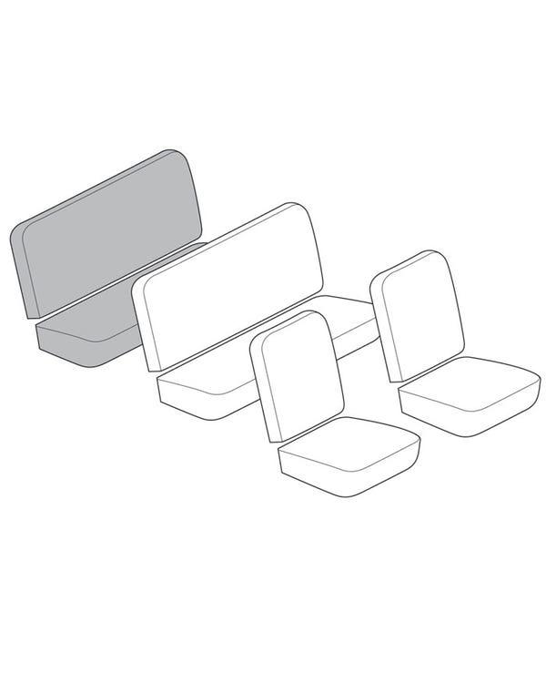 Rückbankbezugsatz in glattem Vinyl, in bis zu 3 Farben erhältlich
