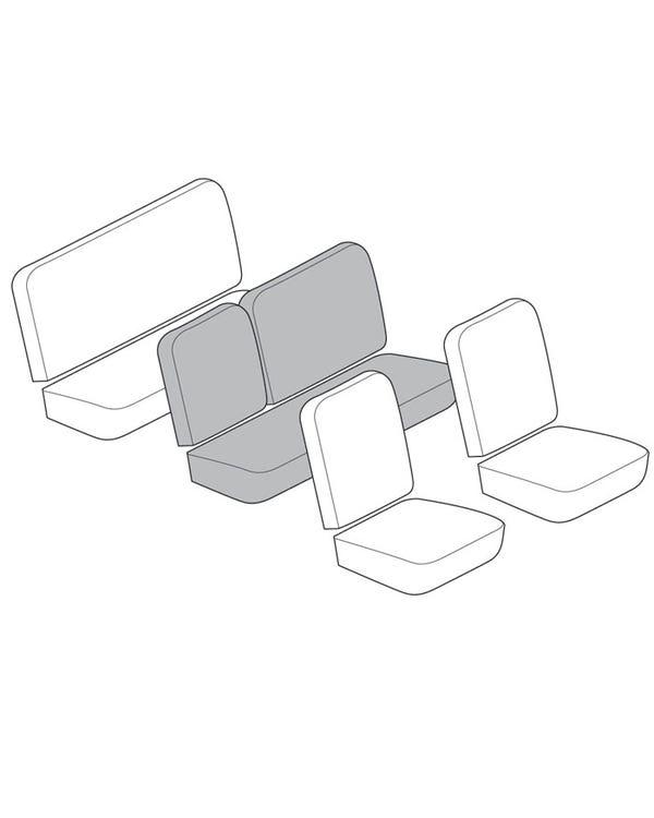 Einfarbiger Mittelbank-Sitzbezug-Satz für Linkslenker, 1/3 umklappbar, mit Korbmuster
