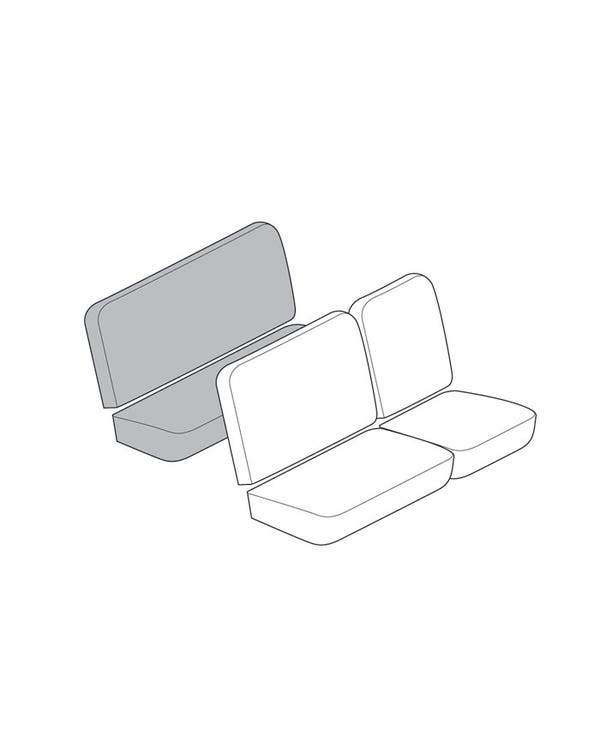 Full Width Rear Bench Seat Cover Set for Crew Cab in Smooth Vinyl up to 3 Colours