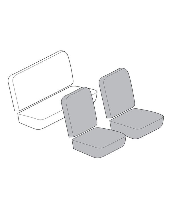 Front Seat Cover Set for Low Back Seats in any Cloth or Vinyl Combination