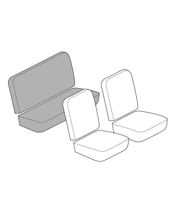 Rear Seat Cover Set with 12 Inch Insert Section in Smooth Vinyl