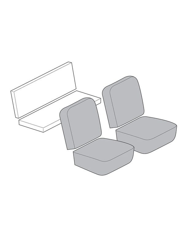 Seat Cover Set for Coupe with 12 Inch Insert Section in Smooth Vinyl