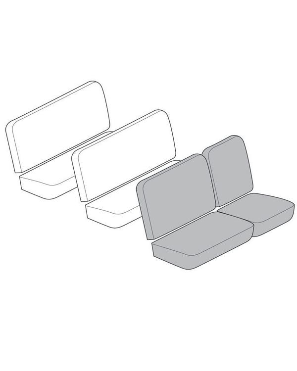 Seat Cover 4 Piece Set with 12 Inch Insert for Front Bench Seat