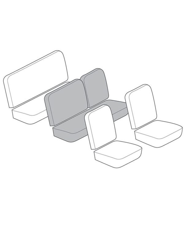 Middle Bench Seat Cover Set for 1/3 Fold Down with 12 Inch Insert Section in Smooth Vinyl