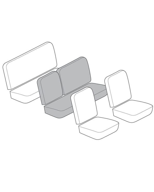 Middle Bench Seat Cover Set for 3/4 Fold Down with 12 Inch Insert Section in Smooth Vinyl