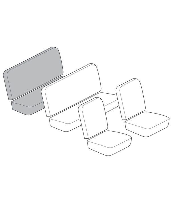Rückbank-Sitzbezug-Set in voller Breite mit 12-Zoll-Einsatz in glattem Vinyl