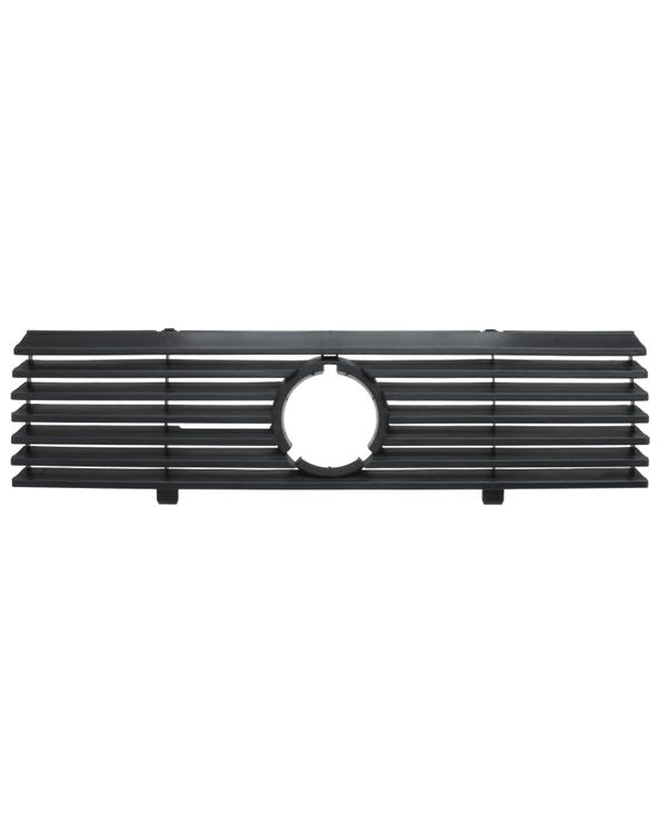 Front Grille with Hole for Badge 7 Slat in Black