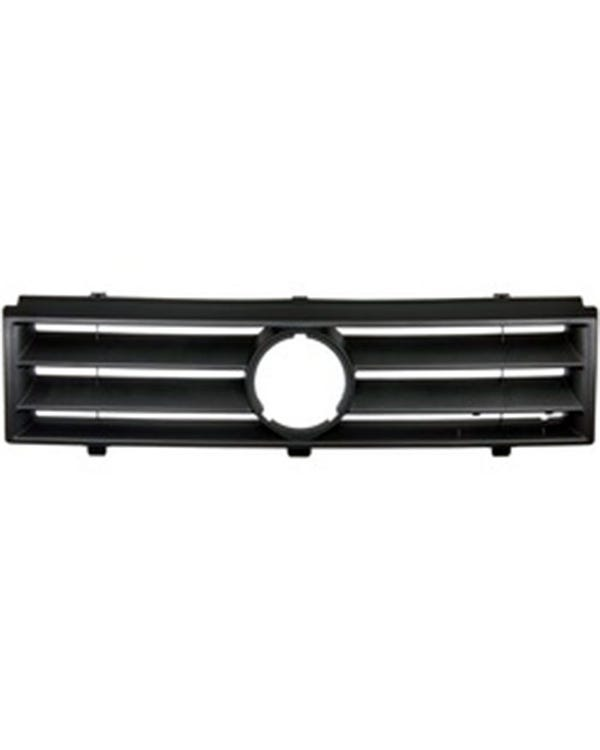 Front Grille with Hole for Badge 2 Slat in Black
