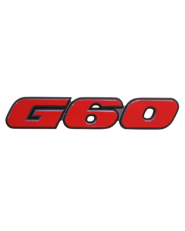 Front G60 inscription Badge in Red